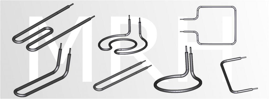 Tubular Heating elments bent profiles
